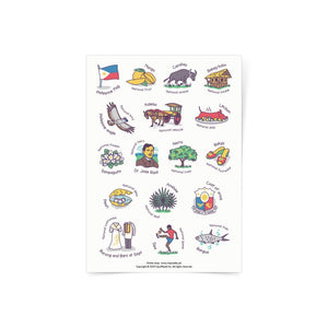 Philippine Symbols Sticker Sheets