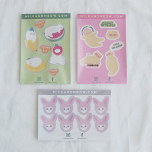 Glittery Cat Sticker Sheets