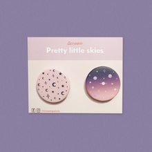 Load image into Gallery viewer, Pretty Skies Button Pin Set