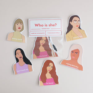 Who is She Sticker Pack