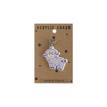 Load image into Gallery viewer, Alpaca Acrylic Charm Keychain