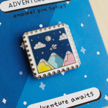 Load image into Gallery viewer, Adventure Stamp Enamel Pins