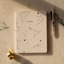 Load image into Gallery viewer, White Zodiac Dot Grid Notebook