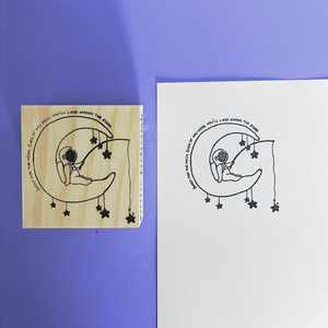 Shoot for the Moon Wooden Stamp