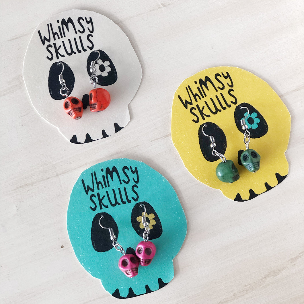 Whimsy Skulls Earrings