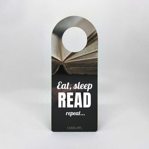 Dørhænger - Eat, sleep, READ, repeat...