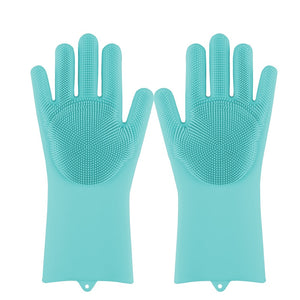 Open image in slideshow, Silicone Dish Washing And Cleaning Gloves