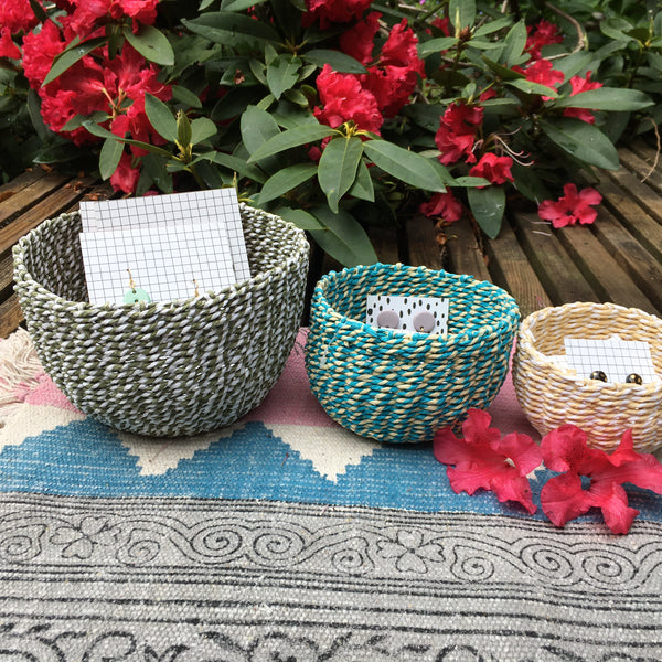 Set of three small baskets