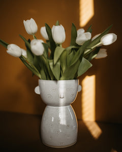 "Vase ""Specked Face"" / Beige"
