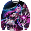 Colorful Jinx Sweatshirt - League of Legends Jinx Apparel - Hoodie Now