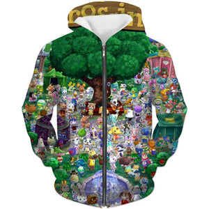 Animal Crossing Zip Up Hoodie