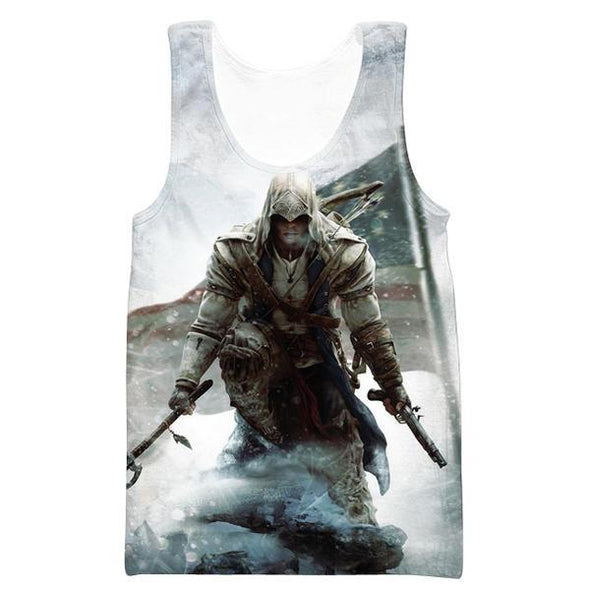 Assassins Creed American Flag Tank Top - Assassin's Creed Odyssey Clothes - Hoodie Now