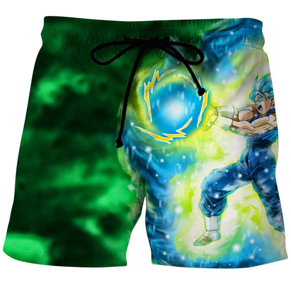 Blue Vegetto Shorts