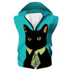 Business Cat Hooded Tank - Black Cat Clothing - Hoodie Now
