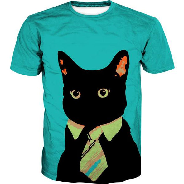 Business Cat T-Shirt - Black Cat Clothing - Hoodie Now