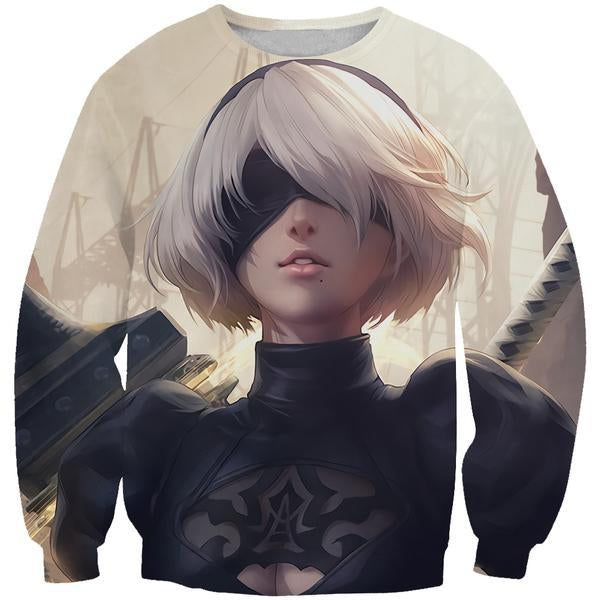 Busty Nier Sweatshirt - Nier Video Gaming Clothes - Hoodie Now