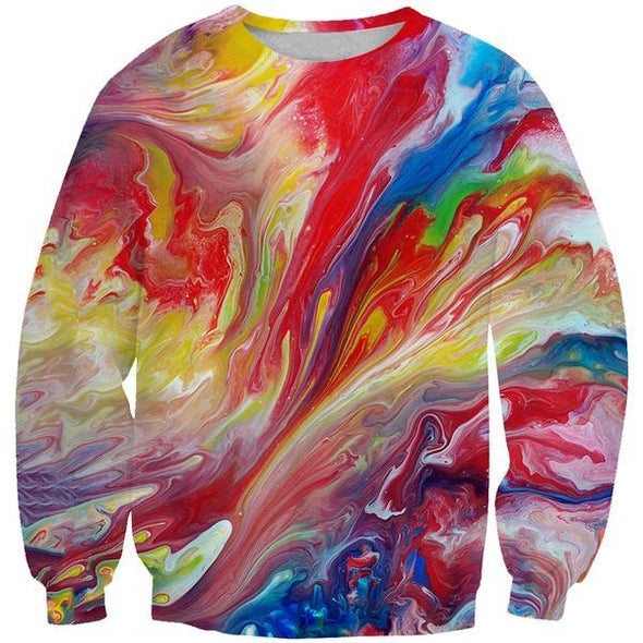 Colorful Paint Sweatshirt - Colorful Clothing - Hoodie Now