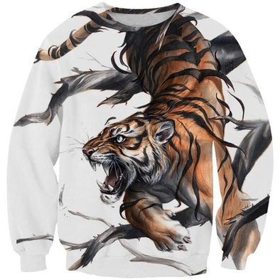 Cool Tiger Sweatshirt - Printed Tiger Clothes - Hoodie Now