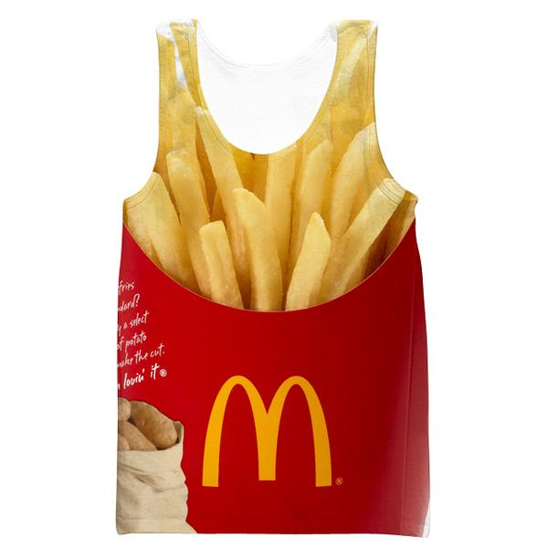 McDonalds French Fries Tank Top - Funny Clothes - Hoodie Now