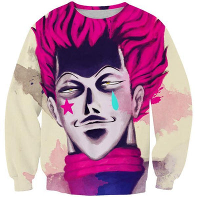 Creepy Hisoka Face Sweatshirt - Hunter x Hunter Clothes - Hoodie Now