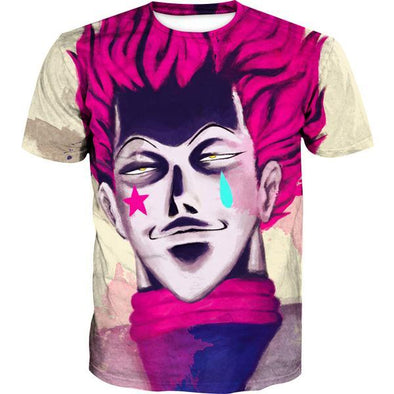 Creepy Hisoka Face T-Shirt - Hunter x Hunter Clothes - Hoodie Now