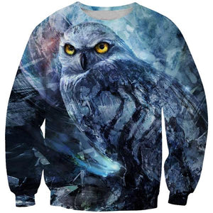 Creepy Owl Sweatshirt - Epic Owl Clothing - Hoodie Now