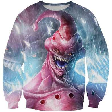 Creepy Super Buu Sweatshirt - Dragon Ball Z Apparel - Hoodie Now
