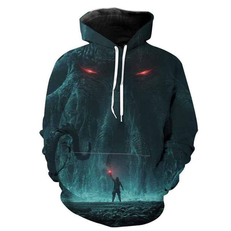 Cthulhu Emerging Hoodie - Fantasy Monster Hoodies and Clothes - Hoodie Now