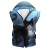 Cute Cat Hooded Tank - Cat Clothing - Hoodie Now
