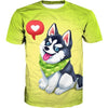 Cute Husky T-Shirt - Cartoon Cute Husky Dog Clothes - Hoodie Now