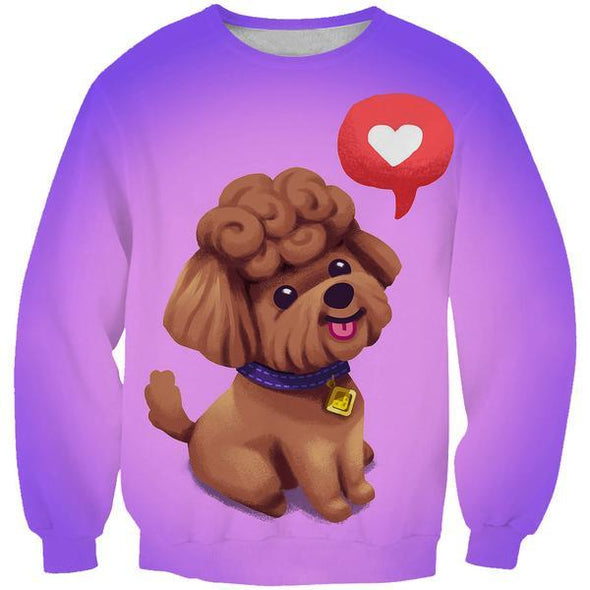Cute Poodle Sweatshirt - Cute Poodle Dog Clothing - Hoodie Now
