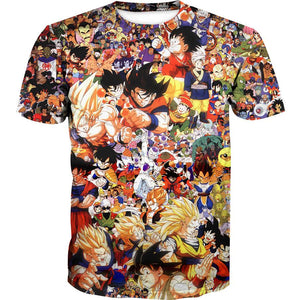 Dragon Ball All characters shirt