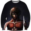 Eren Yeager Titan Sweatshirt - Attack on Titan Clothes - Hoodie Now