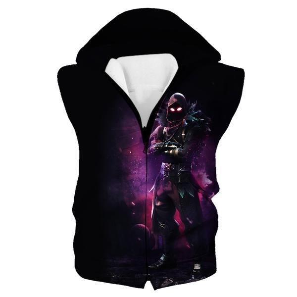 Fortnite Clothes - Fortnite Raven Hooded Tank - Gaming Clothing - Hoodie Now