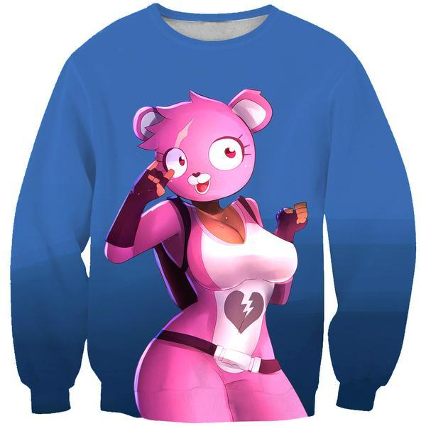 Fortnite Sexy Pink Bear Sweatshirt - Fortnite Clothing and Sweaters - Hoodie Now