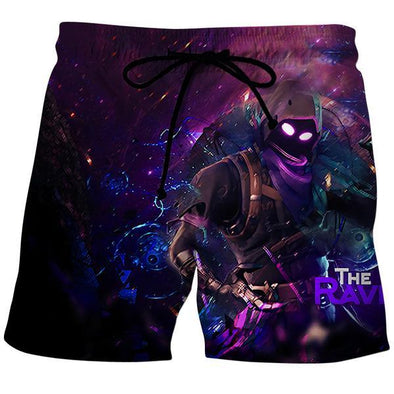 Fortnite Shorts - Raven Skin Board Shorts - Fortnite Clothing - Hoodie Now