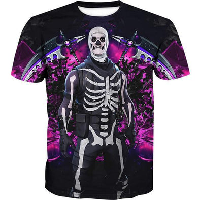 Fortnite Skull Trooper Skin T-Shirt - Fortnite Clothes - Hoodie Now