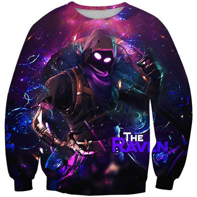 Fortnite Sweaters - Raven Skin Sweatshirt - Fortnite Clothing - Hoodie Now