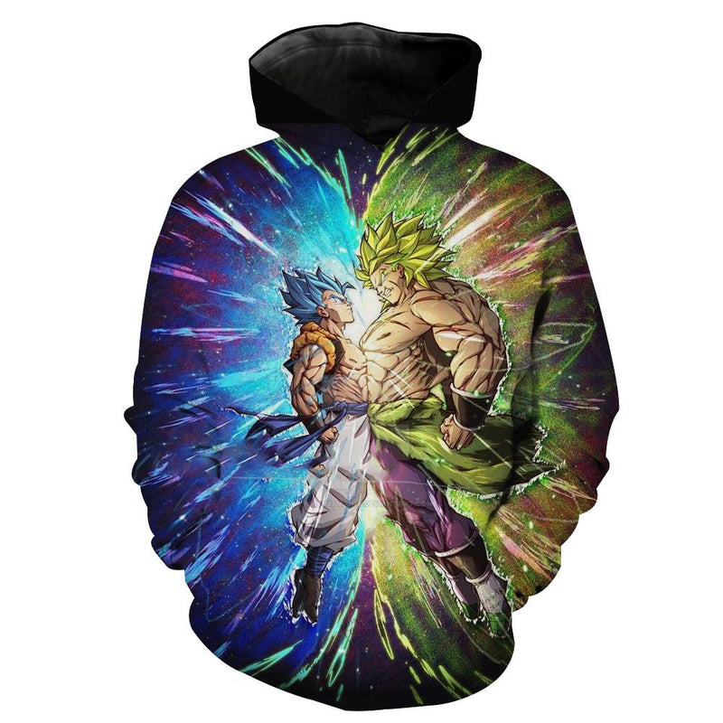 Gogeta vs Broly Hoodie Dragon Ball Hoodies