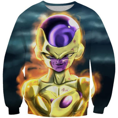 Golden Freeza Sweatshirt - Dragon Ball Super Frieza Clothing - Hoodie Now