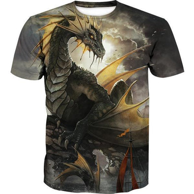 Green Dragon T-Shirt - Fantasy Clothing - Hoodie Now