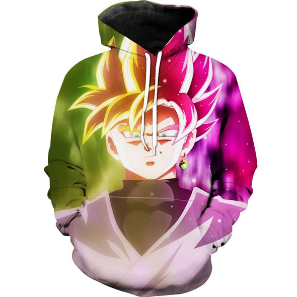 Half Color Dragon Ball Goku Black Hoodie - Dragon Ball Super Clothes - Hoodie Now