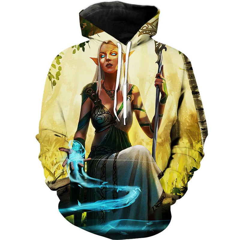 Elf Magic Hoodie - High Fantasy Elf Clothing - Hoodie Now