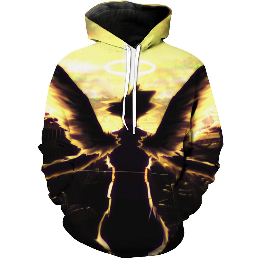 Goku Black Angel Hoodie - Dragon Ball Super 3D Clothing - Hoodie Now