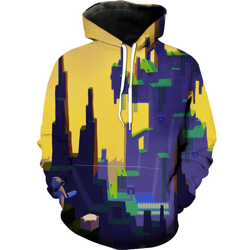 Minecraft City Hoodie - Cool Minecraft 3D Design Image Clothes - Hoodie Now