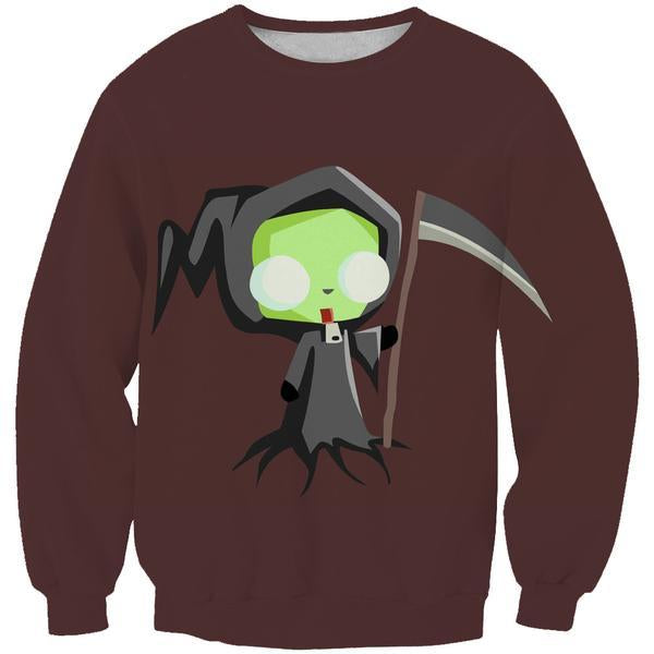 Invader Zim Grim Reaper Sweatshirt - Invader Zim Clothing - Hoodie Now