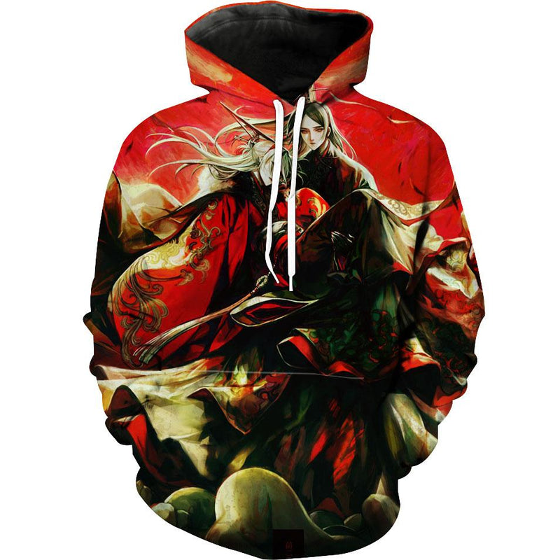 Japanese Style Fantasy Hoodie - Japanese Character Clothing - Hoodie Now