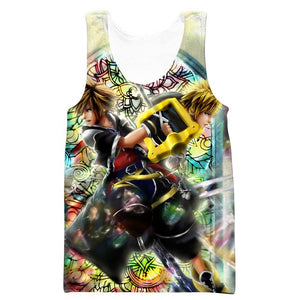 Roxas and Sora Keyblade Hooded Tank - Kingdom Hearts Clothing - Hoodie Now