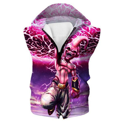 Kid Buu Destruction Hooded Tank - Dragon Ball Clothes - Hoodie Now