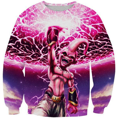 Kid Buu Destruction Sweatshirt - Dragon Ball Clothes - Hoodie Now